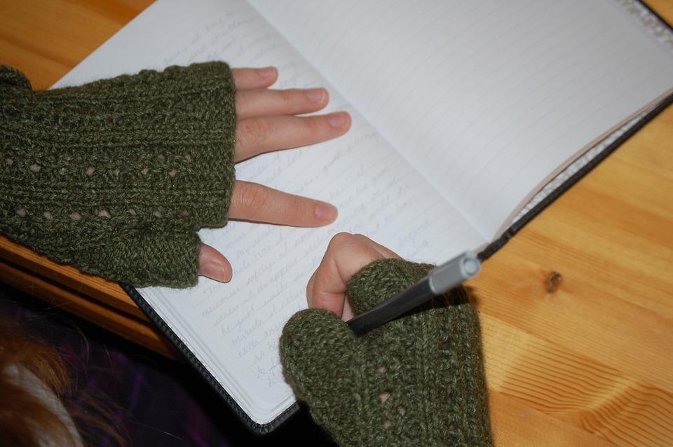 Woman journaling