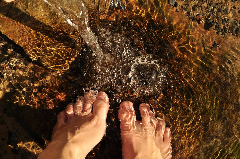 Feet in Creek