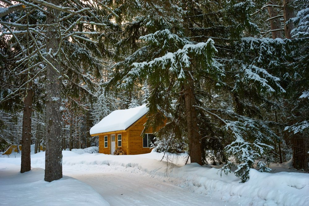 Cabin snow