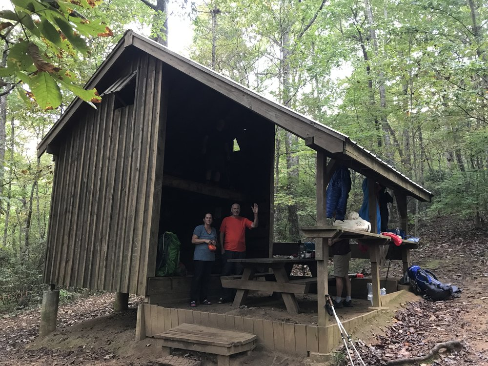 Gooch Mountain Shelter Appalachian Trail Georgia