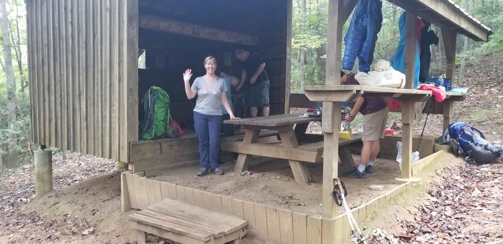 Gooch Mountain ShelterAppalachian Trail Georgia