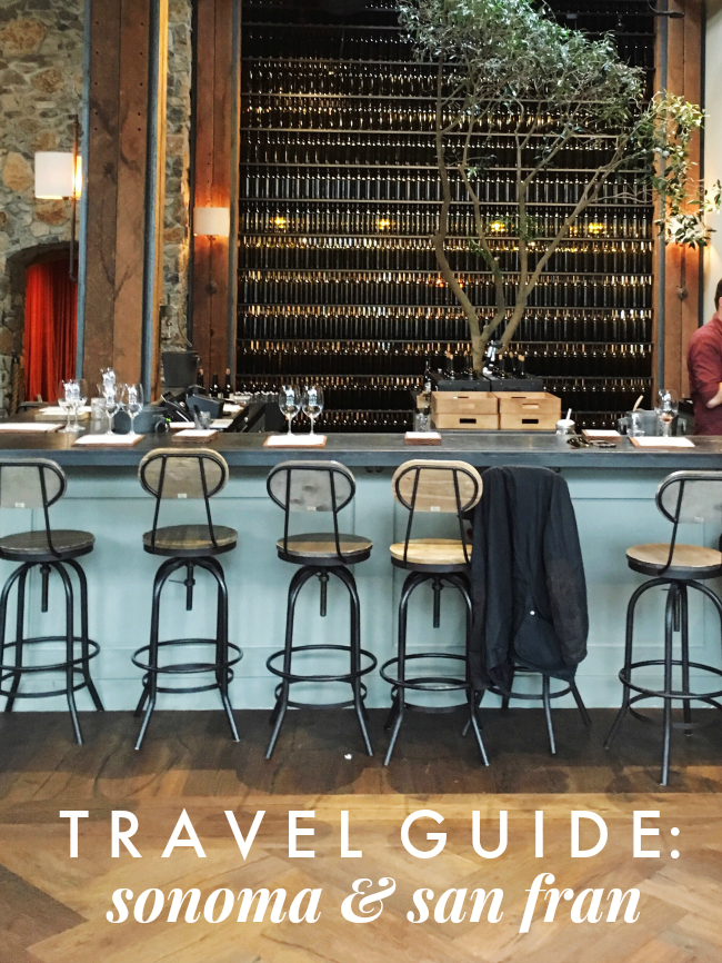 travel guide to san fran & sonoma