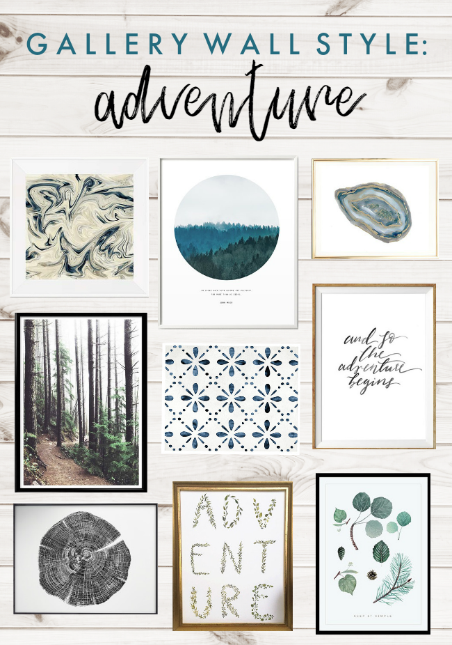 Gallery Wall Style: Adventure Art Prints