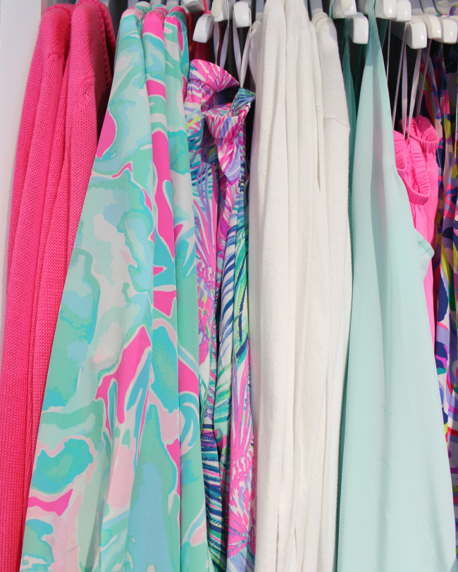 Lilly Pulitzer and preppy pinks & blues at Pier South at Hilldale in Madison WI