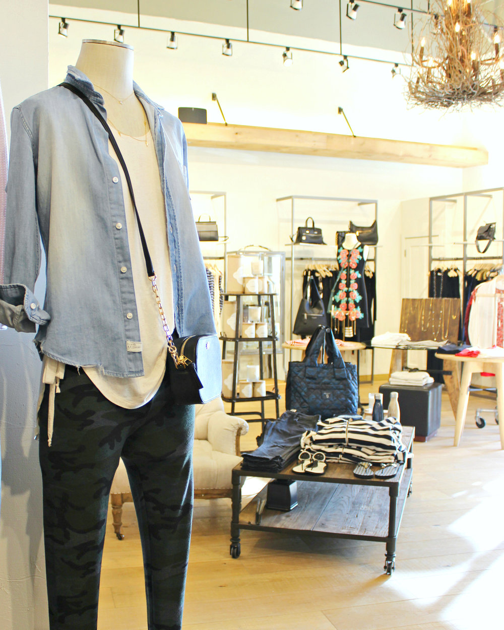 Classic chambray with a modern twist at Twigs at Hilldale in Madison, WI