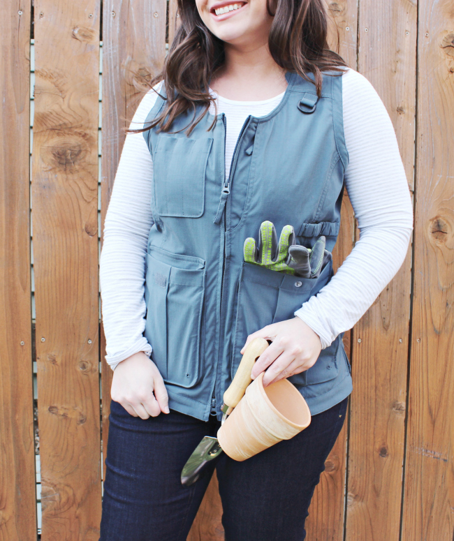 gardening vest for holding tools from Duluth Trading Co