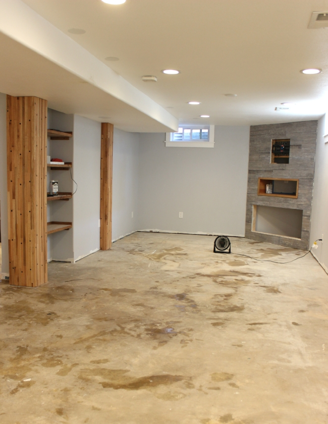 rustic modern basement renovation