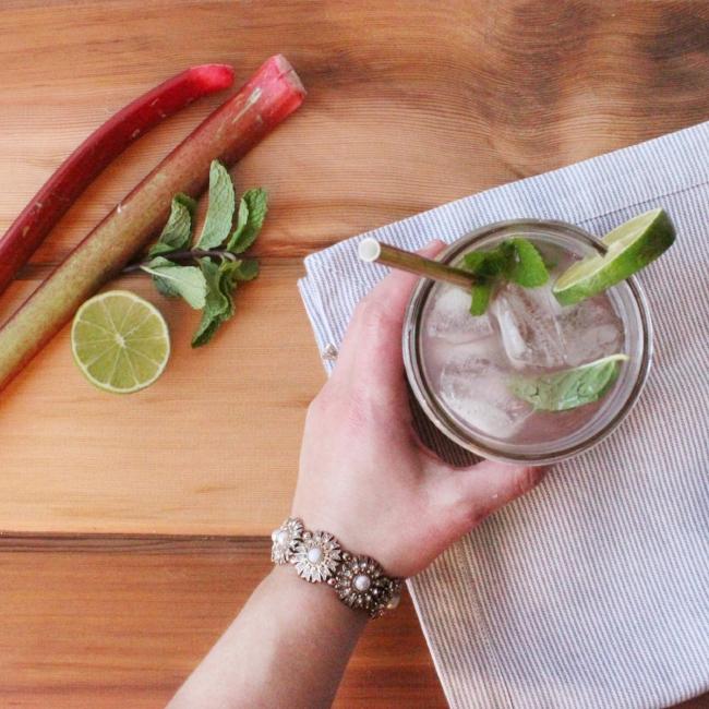 rhubarb mojito | farm fresh cocktail | la petite farmhouse