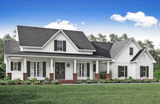 farmhouse house design plans architectural designs - Farmhouse Great Room Plans