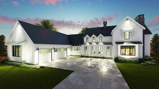 Top 10 modern farmhouse house plans la petite farmhouse for Modern farmhouse architecture