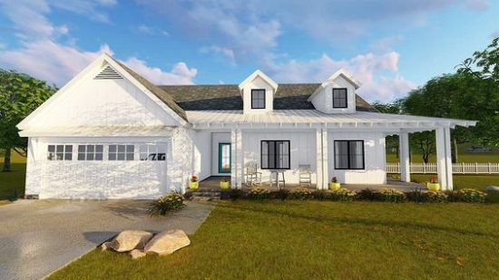 Lovely Modernfarmhouse House Plans | Architectural Designs
