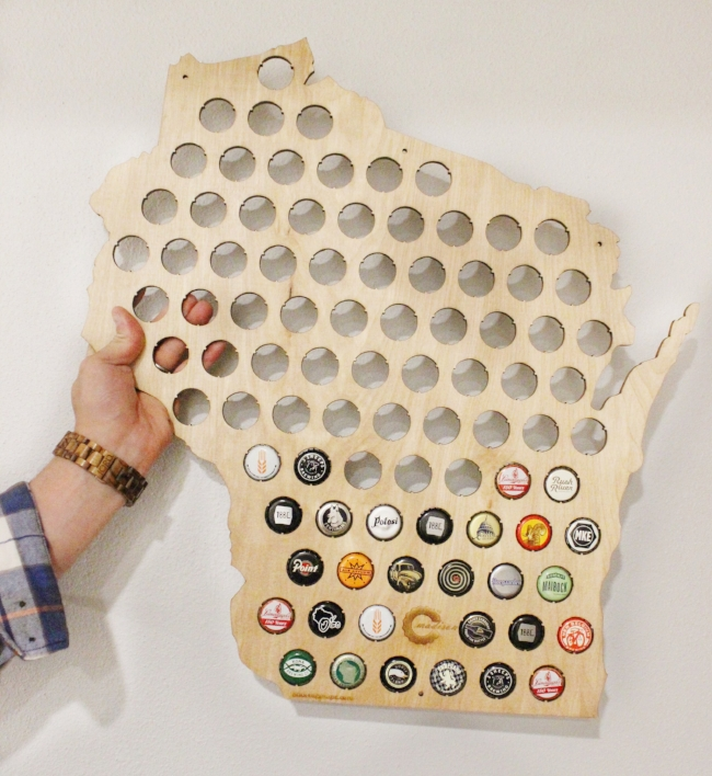 Find a beer cap map for your state,  here !