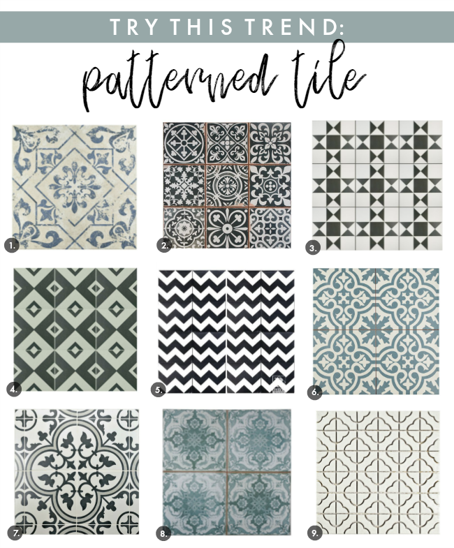 interior design trend: patterned tile | la petite farmhouse