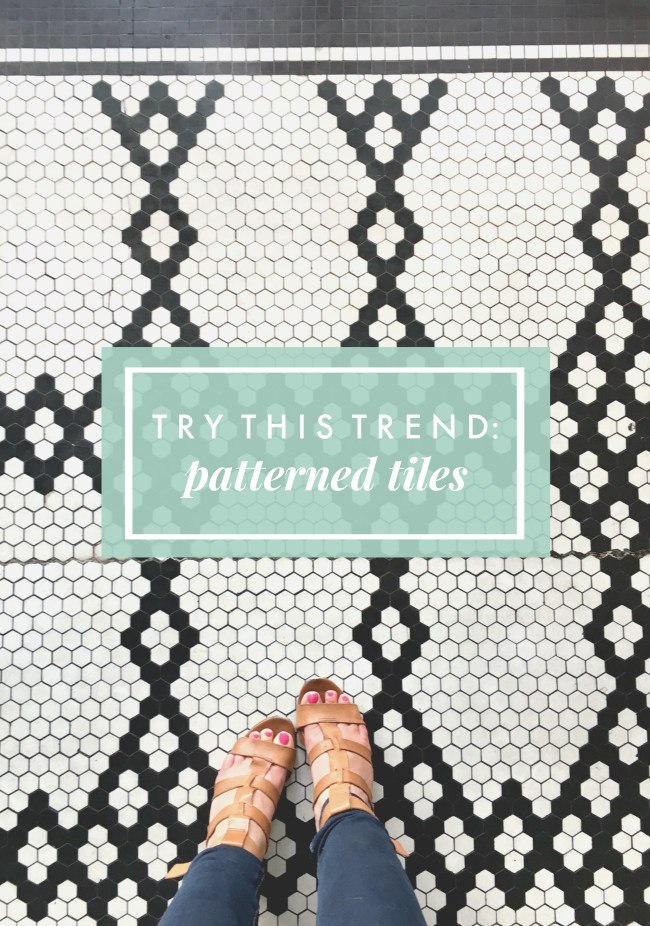 try this design trend: patterned floor tiles | la petite farmhouse