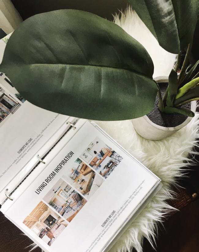interior design inspiration binder