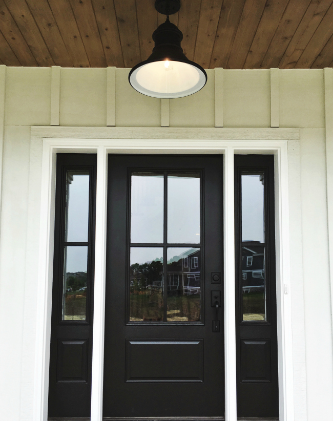 not our front door, but a gorgeous one from Parade of Homes!
