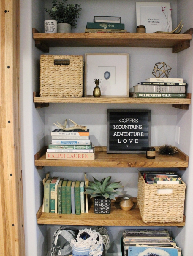 Reclaimed Wood Rustic Modern Bookcase
