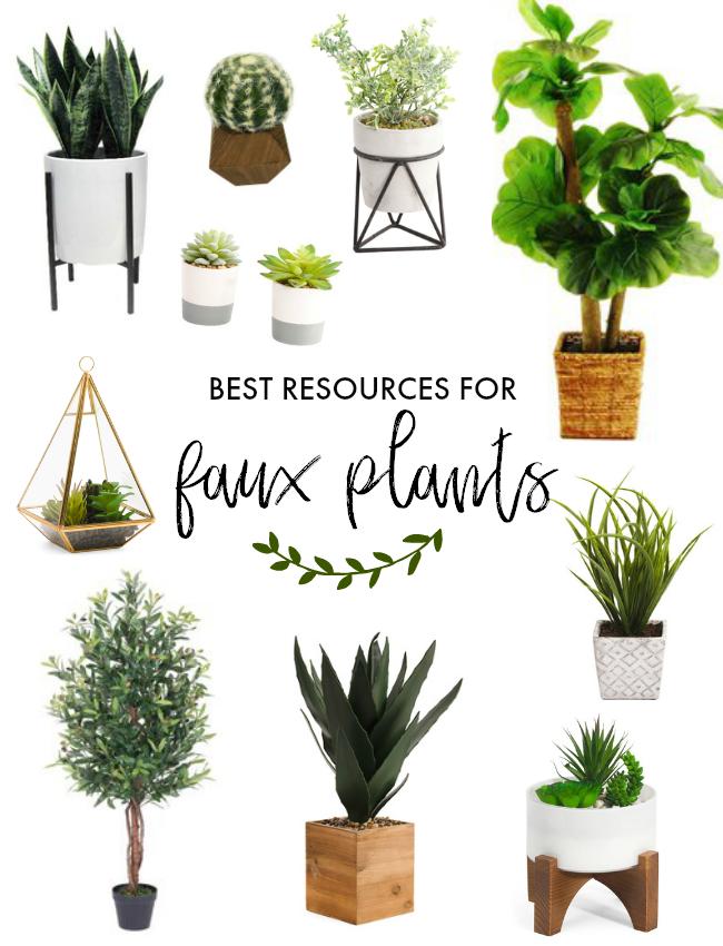 where to find pretty faux plants | la petite farmhouse