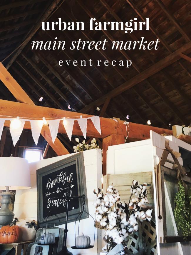 urban farmgirl fall main street market | la petite farmhouse