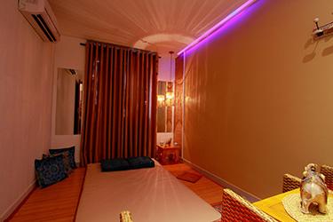 Espaço terapeutico individual da Atman Tantra, onde é realizada a Terapia Integrativa.