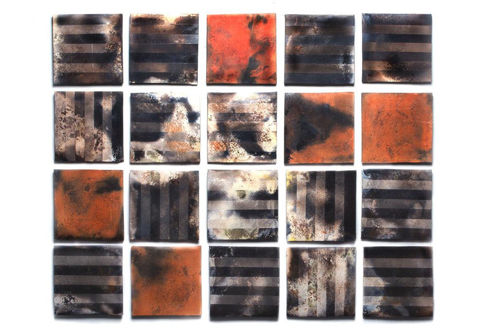 Raku Tiles by Clay Art Center Teaching Artist Denis Licul
