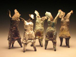 Winged Women by Clay Art Center Artist Susan Wortman