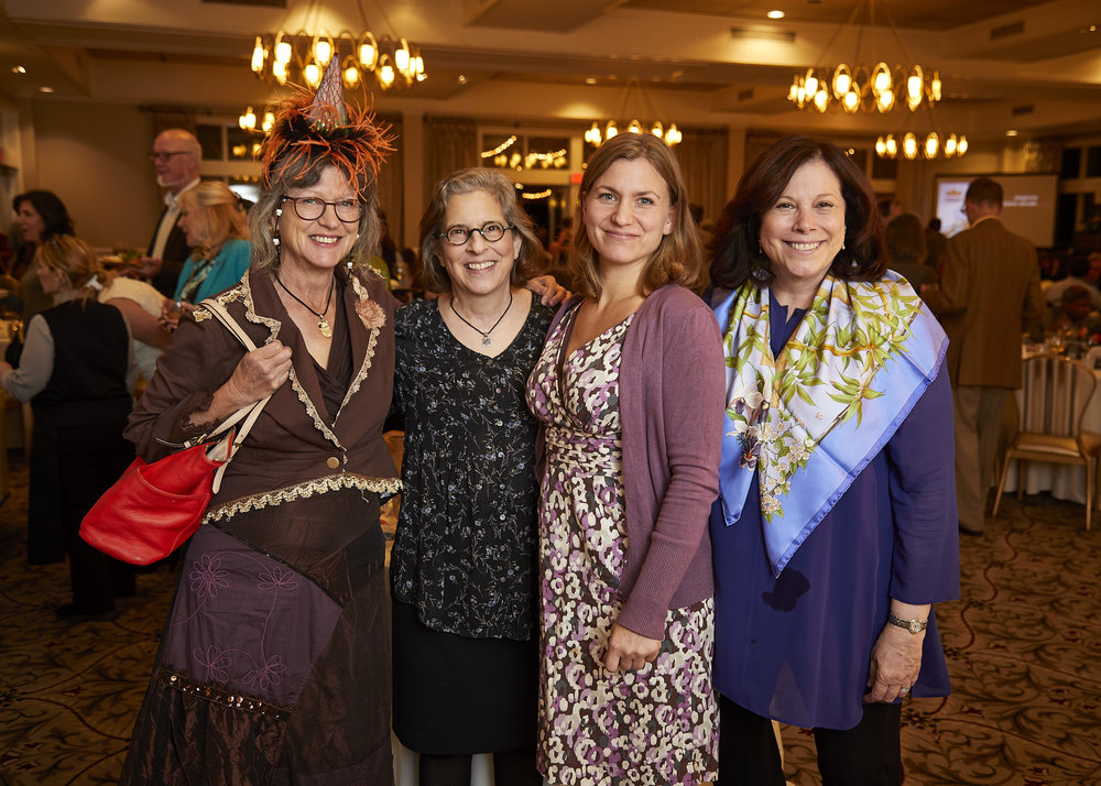 Ginny Waters, Jane Cohen, Brenda Quinn, Roberta Shapiro celebrating at our 60th Birthday Bash.