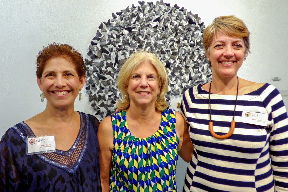 Clay Art Center Wendy Weinstein, CAC Development Manager, Shelly Meyer, NY State Senator, Leigh Taylor Mickelson, CAC Executive Director.jpg