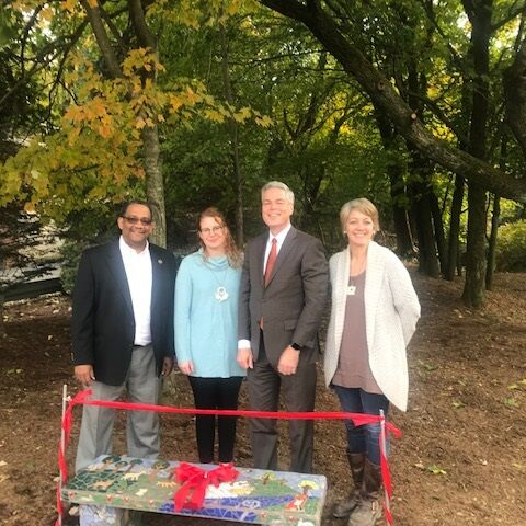 Jack Harrington Greenway Mosaic Bench Dedication