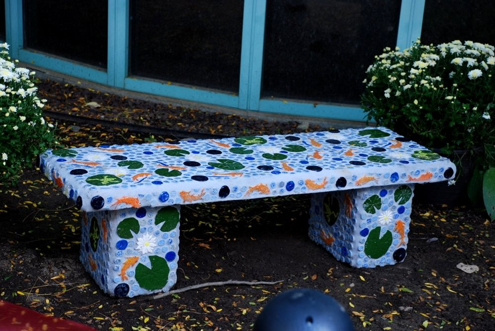 Go With the Flow Mosaic Bench