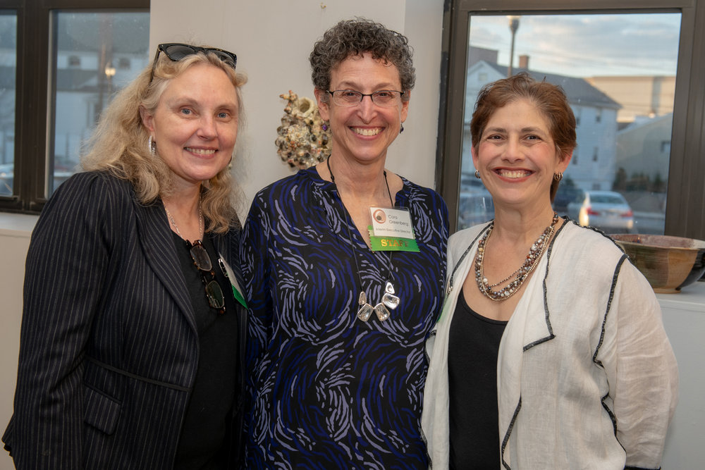 Nancy Yates, CAC Communications Manager, Cora Greenberg, CAC Interim Executive Director, Wendy Weinstein, CAC Development Manager