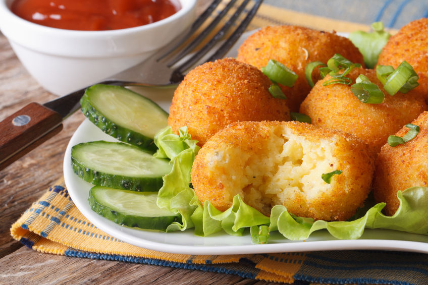 Smith & Hanks: Air Fryer Mashed Potato Croquettes with Parmesan Cheese