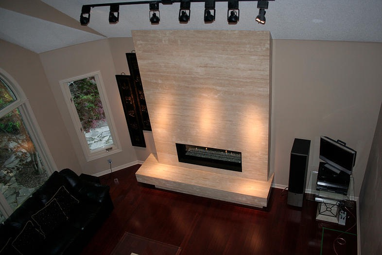Ivory Travertine. Fireplace.jpg