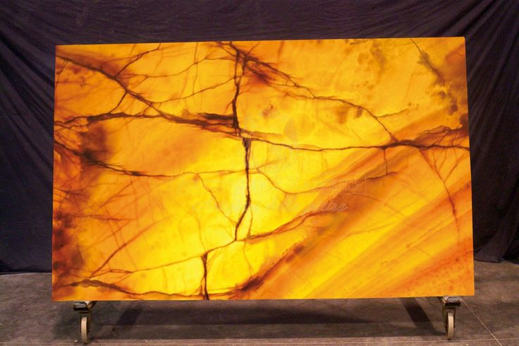 Translucent Stone Panels Made With Onyx Agate Marble
