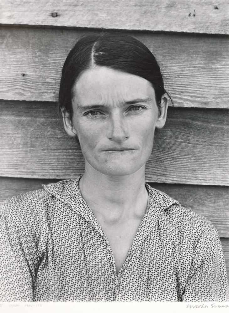 "Tenant Farmer's Wife, Alabama"" (1936), Gelatin silver print, by Walker Evans (American 1903-1975)."