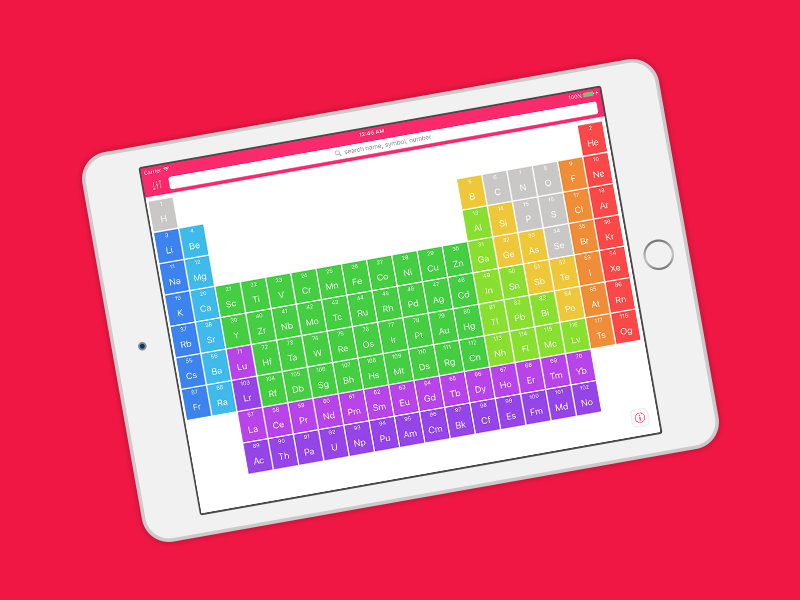 Elementium .The first no-nonsense periodic table for your pocket. It's exactly what you need to succeed in the lab or the classroom.