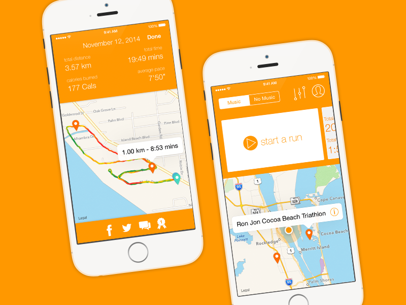 Runr .It shouldn't be complicated or frustrating to get moving, so just tap to start tracking your progress.Plan routes and share your success.