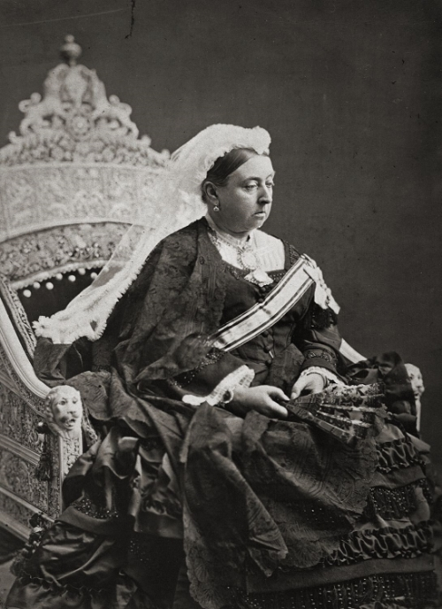Queen Victoria on Windsor Throne (Image Courtesy: Royal Collection Trust UK)