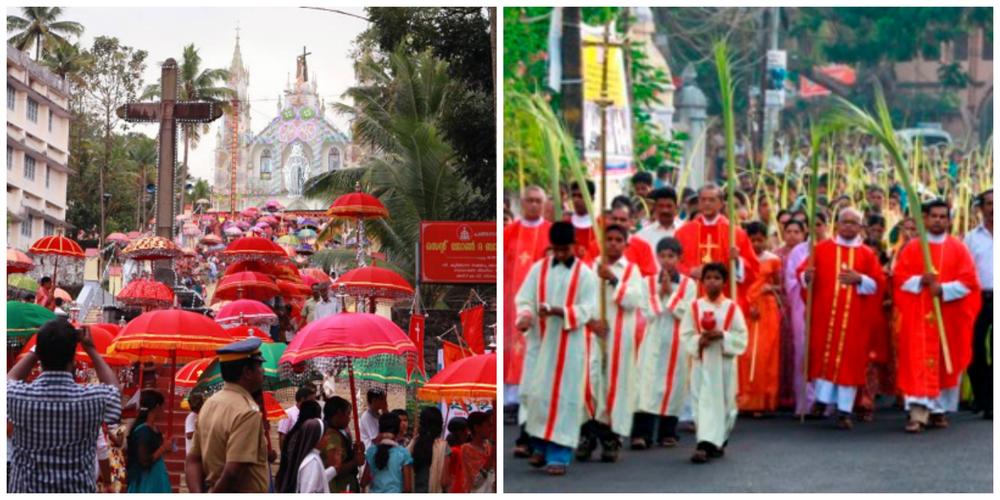 Christian festival processions in Kerala