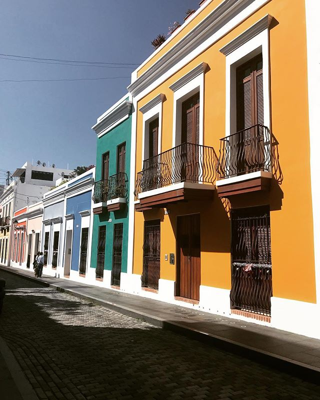 The colorful houses of Viejo San Juan. This is the prettiest city ever!