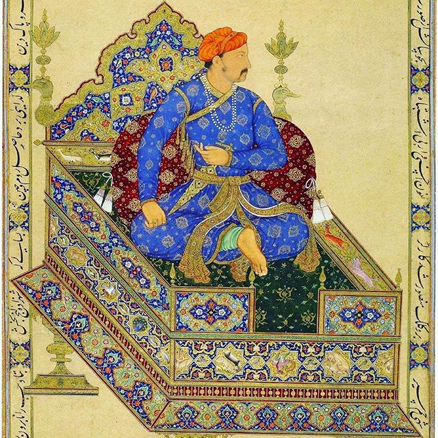 Mirza Nur-ud-din Beig Muhammad Khan Salim. This portrait painted in 1600 shows a man in his prime, probably good-looking seared cross-legged while thoughtfully looking away from the portraitist. In five years, he would become the king of kings of one of the largest empires in the world, a person for whom the British were mere firangi traders that he couldn't even remember their names. This painting does not show his alcohol or opiate addiction, or his love for the beloved mangoes of Hindustan or adoration for his dearly departed father. But we talk about all this in our latest episode, episode 6. Head over to www.masalahistory.com. (Link in bio.) Comment, subscribe, and share your thoughts on the pod!