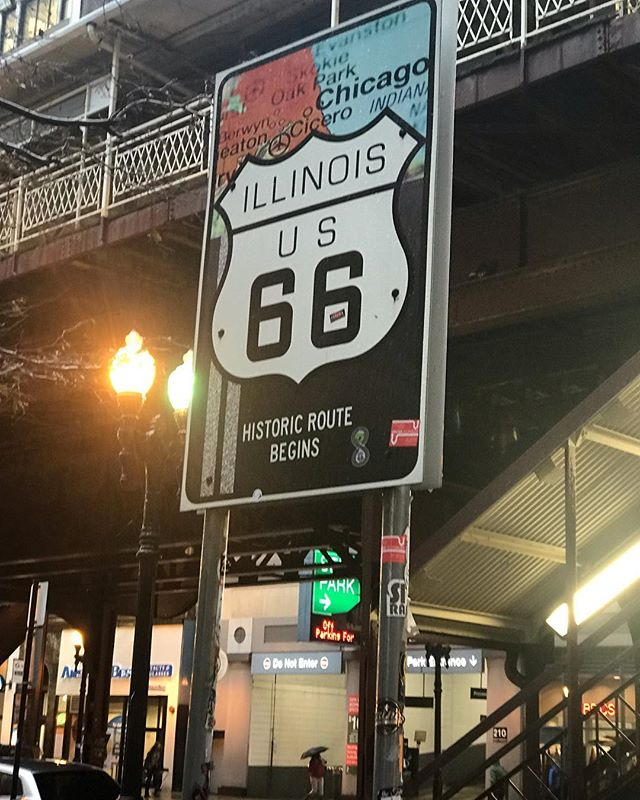 I have walked past this sign so many times but only truly noticed it now that they have erected a brand new sign and taken out the old one. At the intersection of Adams and Wabash… #route66