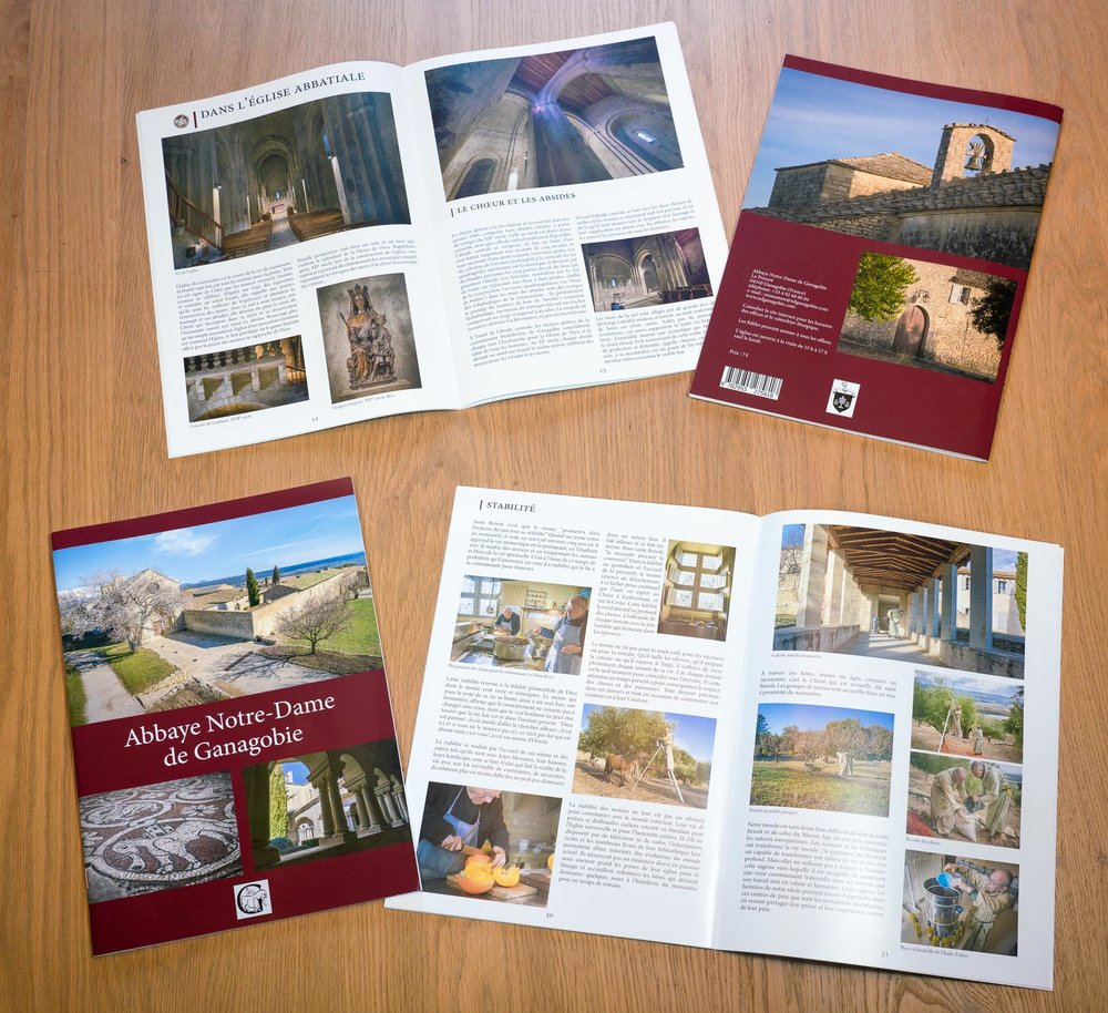 Recent project of photography and graphic design of souvenir booklet for l'Abbaye Notre-Dame de Ganagobie, France