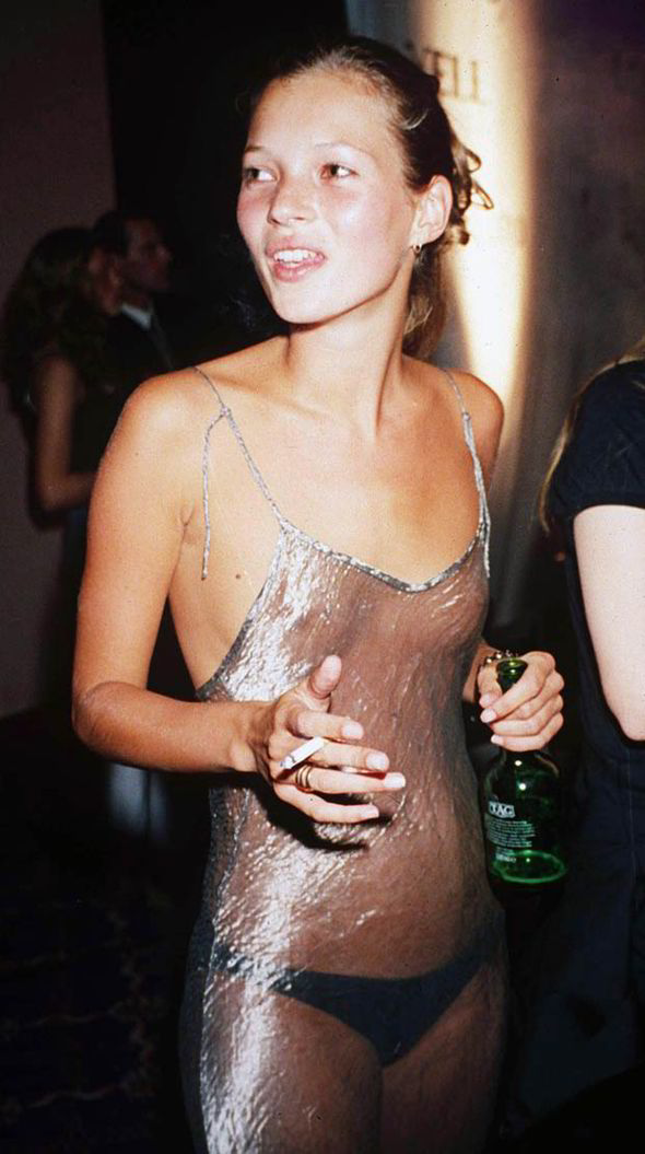 Kate Moss Wearing Silk Slip Dress (1993)                                                       [www.express.co.uk]