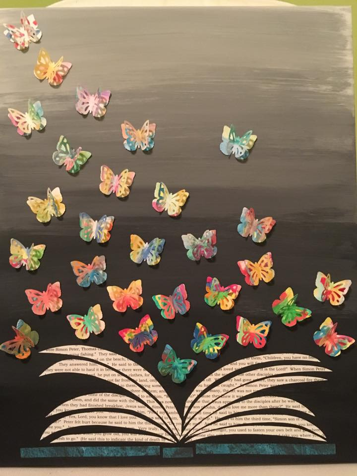 The kindergarten class craft features butterflies handpainted by each member of the class. Thank you to Christina Moralek-Sheardown for coordinating this craft!  Opening Bid: $50 Bid Increments: $10 Class Code:  Name, K-(place bid)