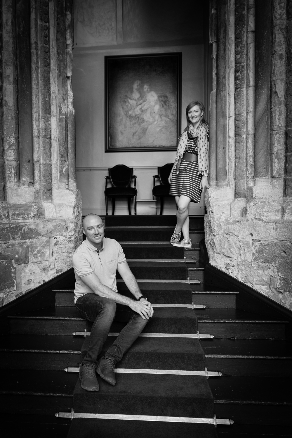 Engagement shoot Durham Castle taken by Northumberland Photographer capturedmomentsweddingphotography.co.uk