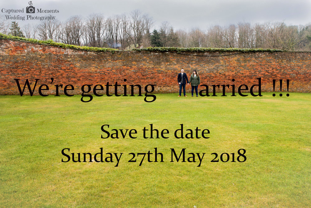 wedding save the date alnwick gardens