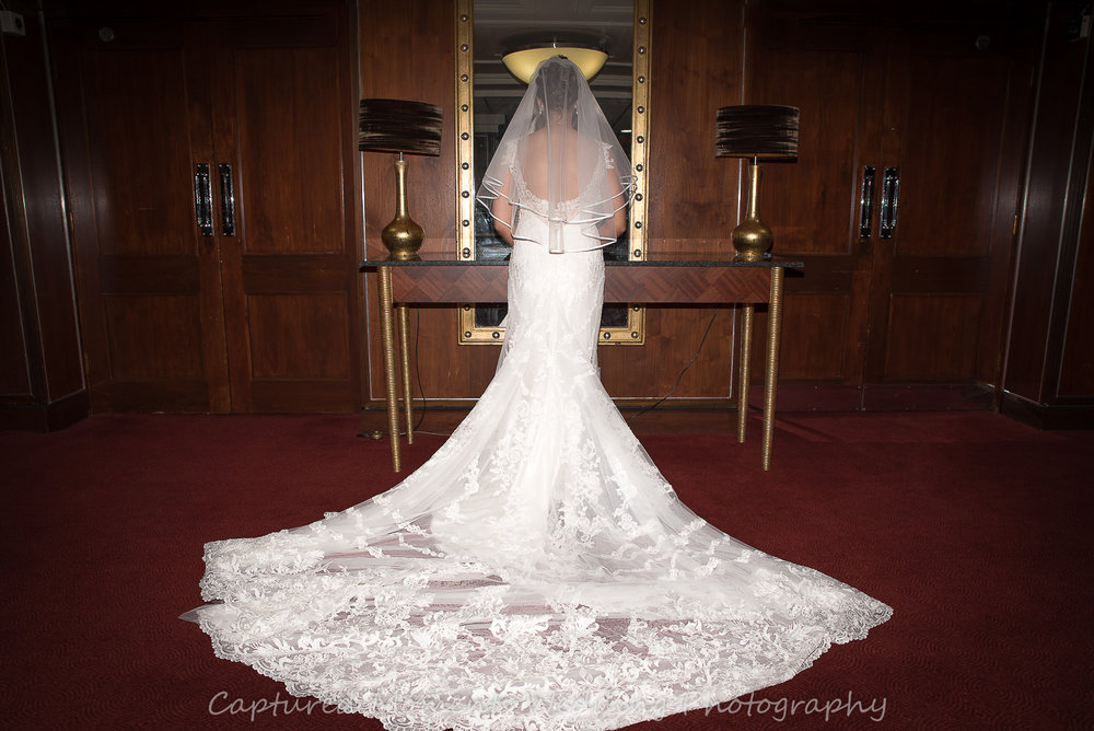 Northumberland-bride-in-BEAUTIFUL-wedding-dress-back-view
