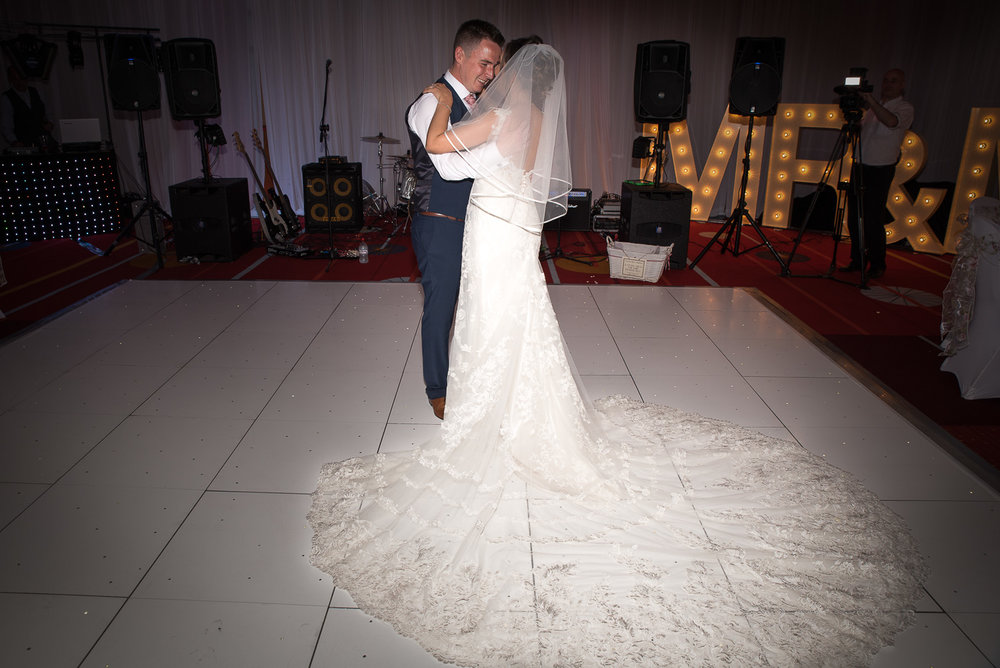Bride and Grooms first dance Northumberland Hotel