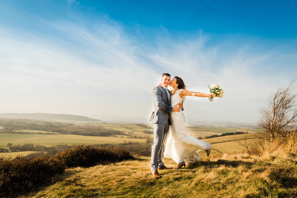 Copy of Northumberland Bride and Groom on the Moors